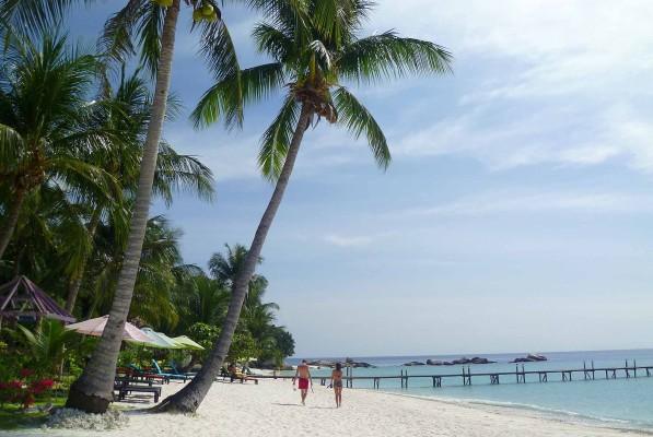 Le spiagge bianche dell'isola