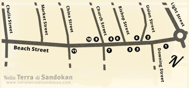Mappa di Beach Street, George Town