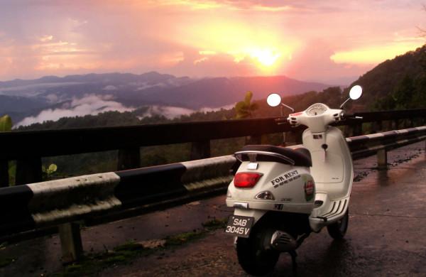 Tramonto al monte Kinabalu